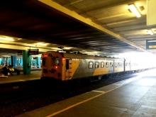 A Metrorail train departs Cape Town Station. Photo by Sibusiso Tshabalala.