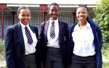 From left to right: Babalwa Dumane, Zenande Nurunessa Mantlana and Kukhanya Fudumele, who set up PRESS, an online kiosk for school boarders. Photo by Pasqua Heard.