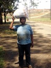 Nokhukhanya Myeza, 42, has been waste picking for 22 years. Photo by Ntombi Mbomvu.