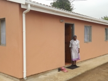 Ntombifikile Vilakazi moved into her new home in April. Photo by Ntombi Mbomvu.