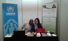 Aleck Kuhudzai and Deborah Won of the Agency for Refugee Education, Skills Training and Advocacy (ARESTA). Photo by Tariro Washinyira.