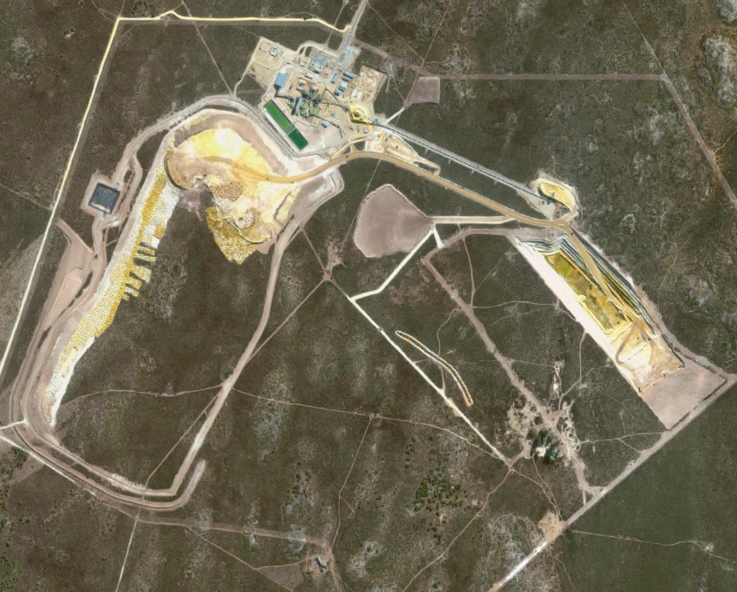 Satellite imagery of a mine