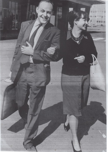 Black and white photo of John and Ann Harris