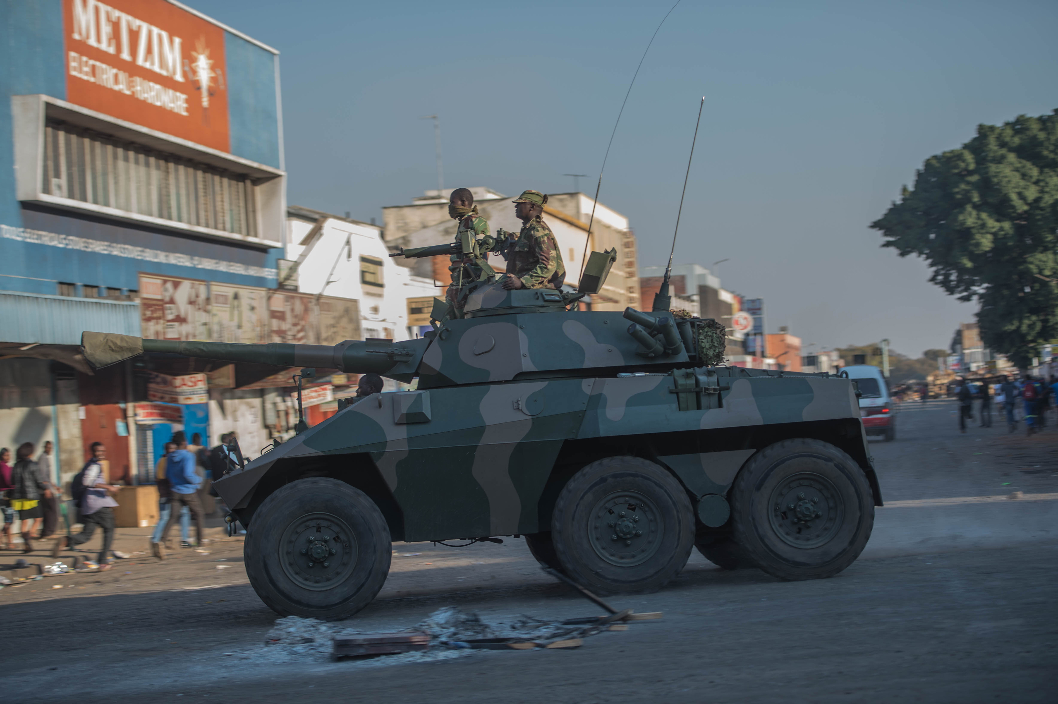 Photo of unrest during Zimbabwean elections