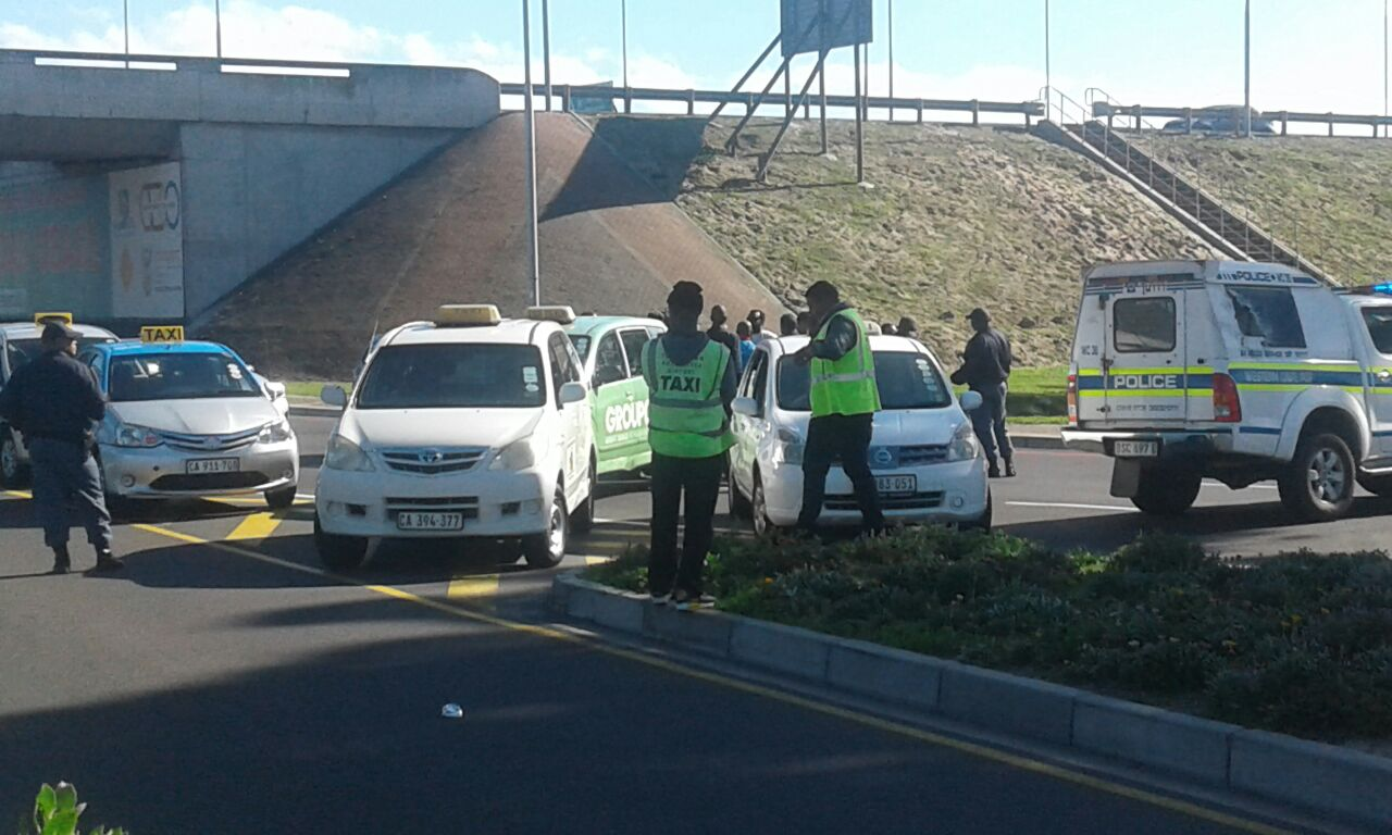 Taxi Drivers Force Uber Passenger Out Of Car Groundup