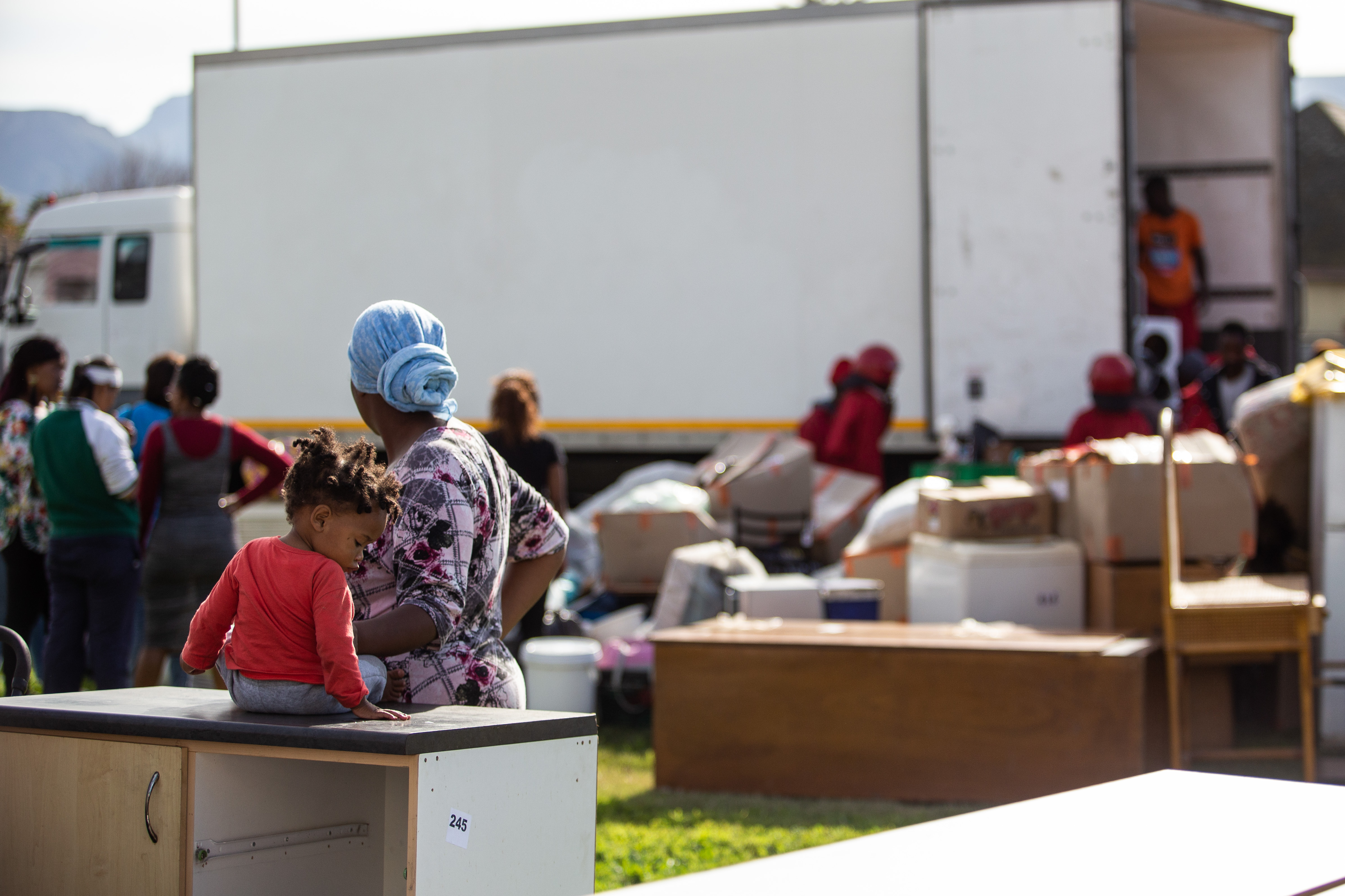dozens of families evicted at cape town s largest social housing