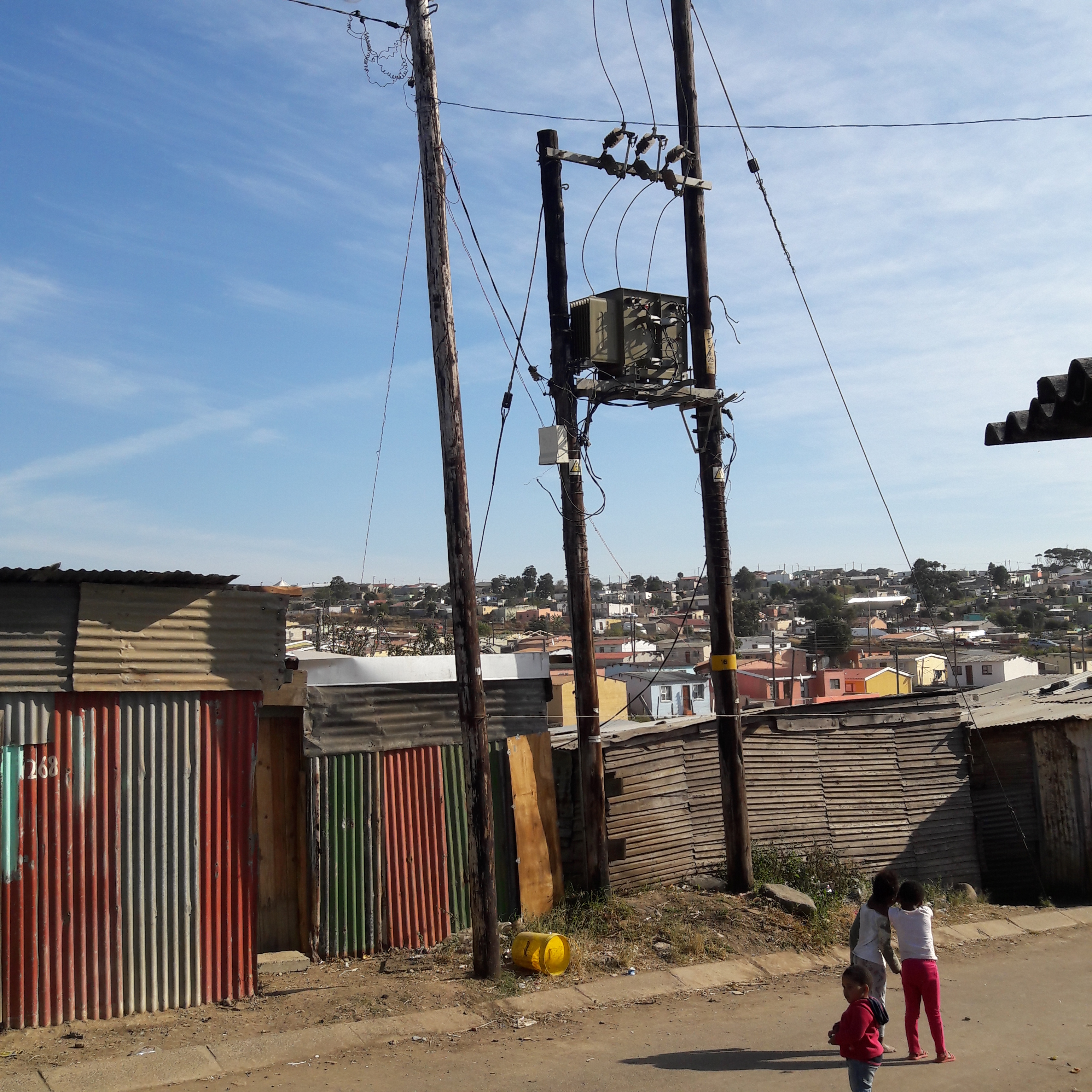 Illegal Electricity Connections Overloads New Duncan Village Electrical Wiring Interview Questions Photo Of Supply Transformer
