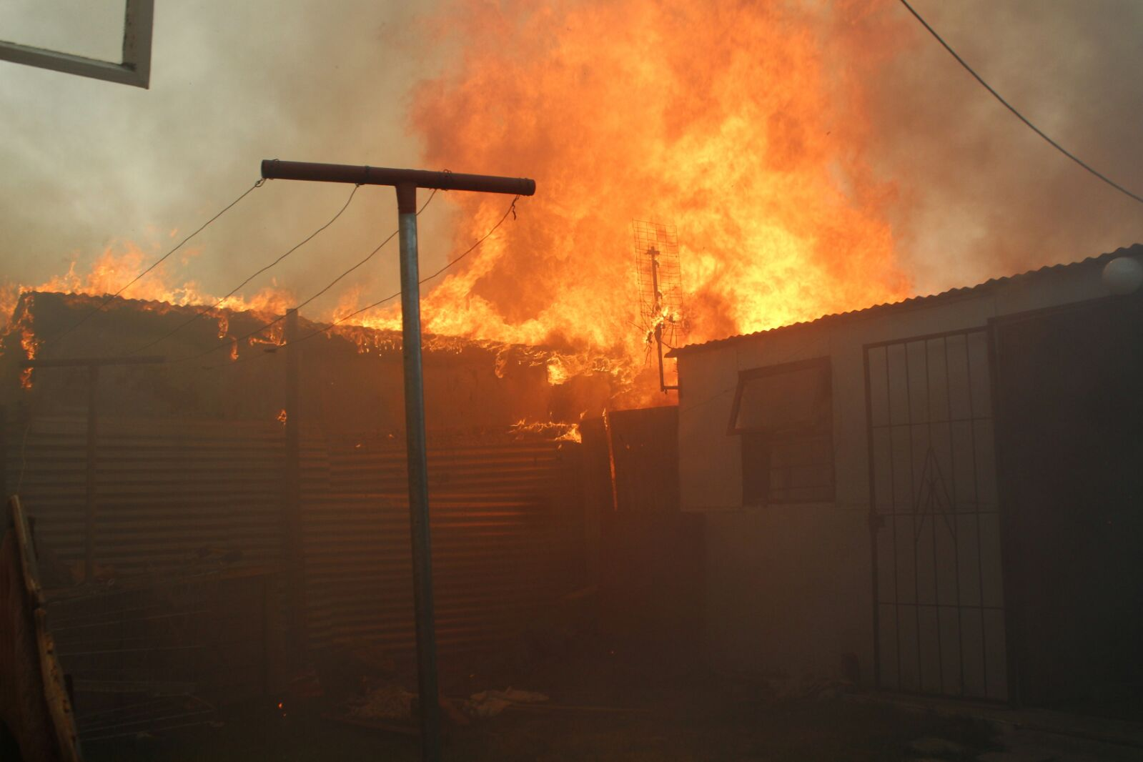Langa fire. Photo by Masixole Feni.