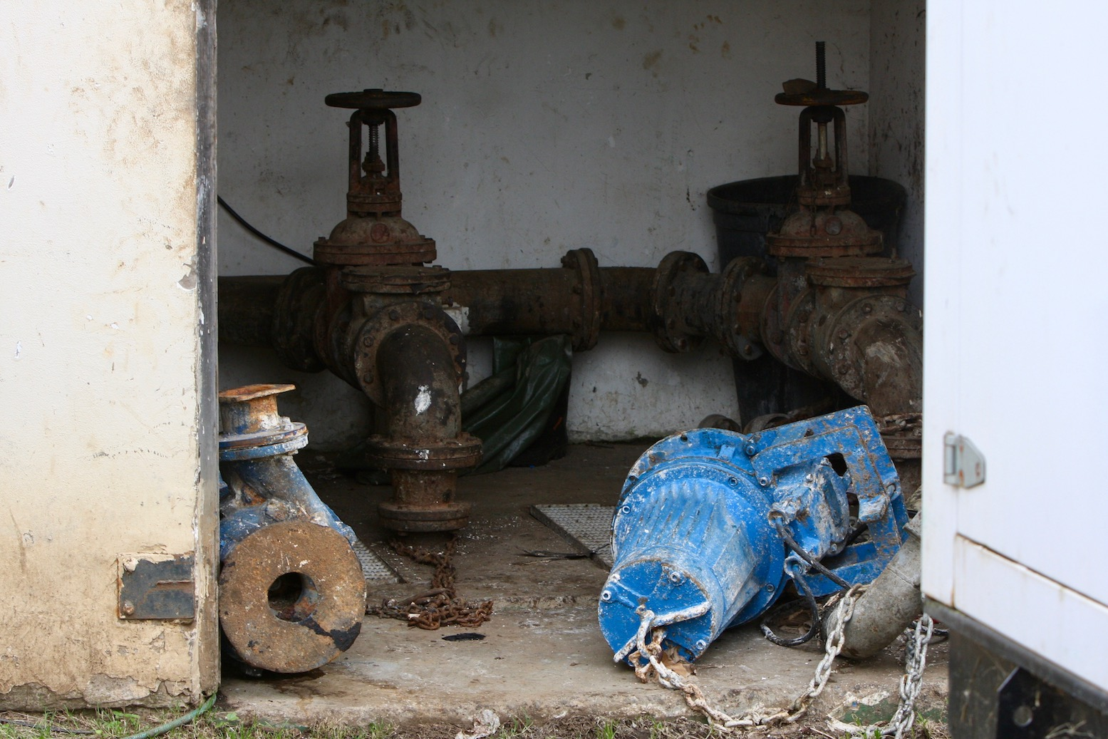 Photo of broken pump equipment