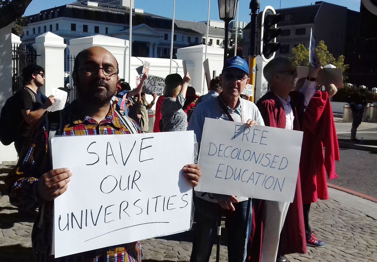 "e780b33b9 We want Blade"" chant UCT staff at Parliament"