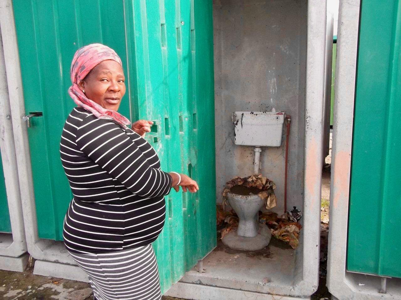 bureaucracy leaves khayelitsha toilets uncleaned since